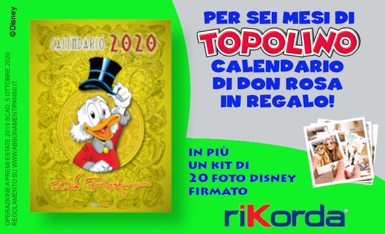 Immagine offerta di Topolino calendario Don Rosa
