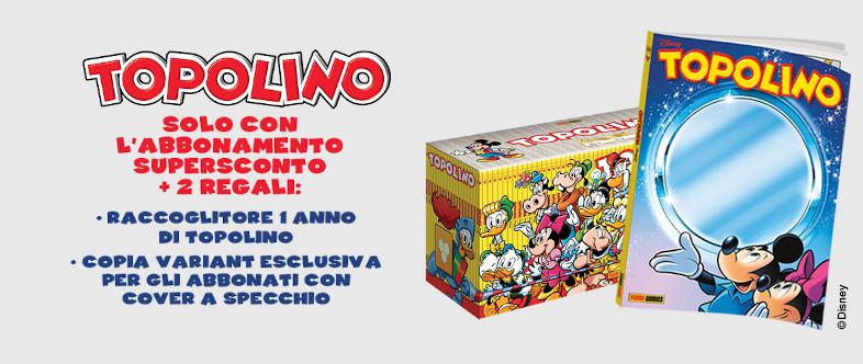 Abbonamento a Topolino con raccoglitore e copertina variant