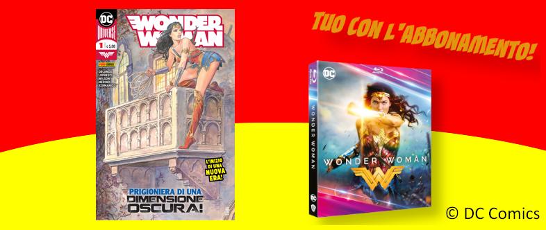 Abbonamento di un anno a Wonder Woman con BluRay in regalo